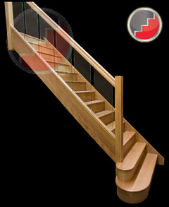 Houston Oak Staircase from Stairplan